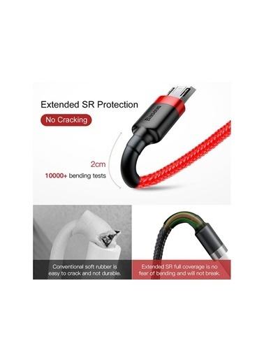 Baseus 1 Metre Micro Usb Şarj Kablosu 2.4A Kırmızı